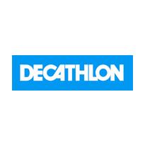 Logo de Décathlon, client de Yanda
