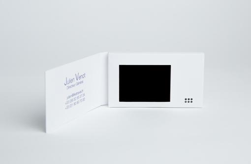 Exemple carte de visite video offre express Yanda