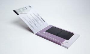 Brochure video avec écran LCD réalisée par Yanda